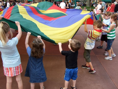 Who needs a parade when you have a parachute
